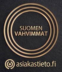 Suomen Vahvimmat -sertifikaatti yrityksen luottoluokitus